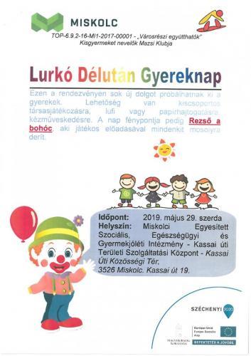 Lurkó Délután Gyereknap 2-es célterület