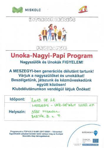 Unoka-Nagyi-Papi program 5-ös célterület