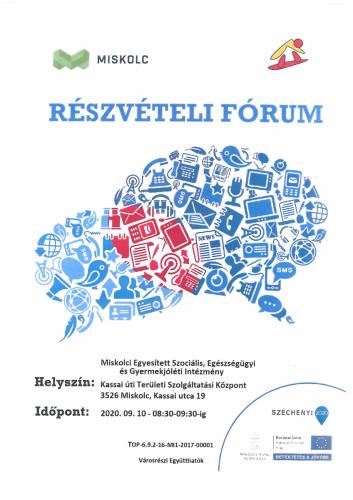 Részvételi fórum 2-es célterület szeptember