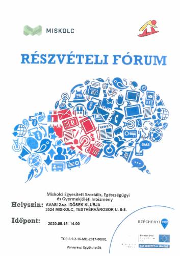 Részvételi fórum 3-as célterület szeptember