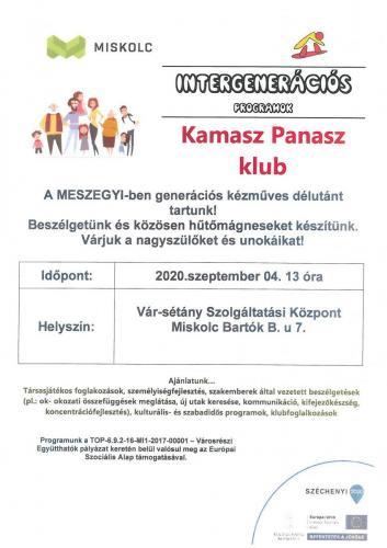 Kamasz Panasz  -Hűtőmágnes kreatív foglalkozás 5-ös célterület