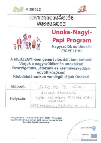 Unoka Nagyi Papi -  Retro Farsang  5-ös célterület