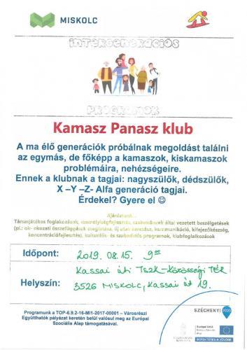 Kamasz Panasz Klub 1-es célterület