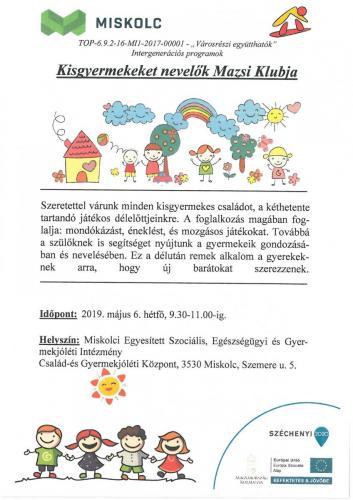 Kisgyermeket nevelők Mazsi Klubja 1-es célterület B
