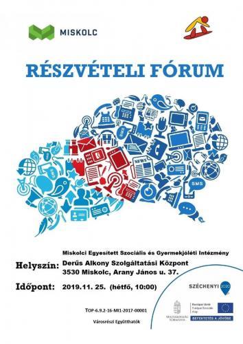 Részvételi Fórum 1-es célterület (november)