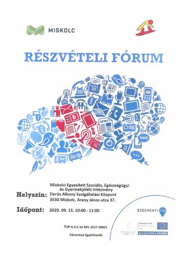 Részvételi fórum 1-es célterület szeptember
