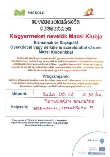 Kisgyermeket nevelők Mazsi klubja - Kézműves foglalkozás 3-as célterület
