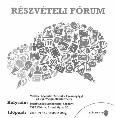 Részvételi fórum 4-es célterület szeptember