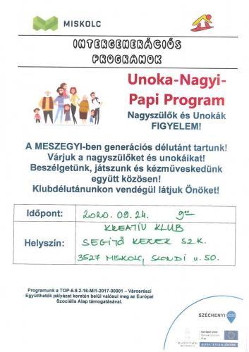Unoka Nagyi Papi - Kreatív klub 4-es célterület