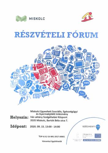 Részvételi fórum 5-ös célterület szeptember